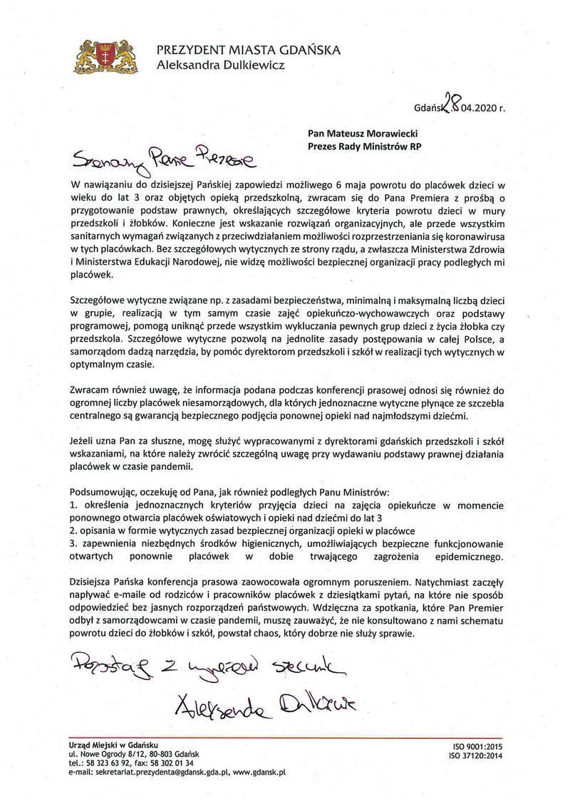 list do premiera mala
