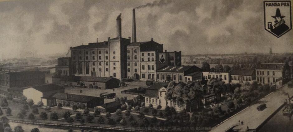 Browar Richarda Fischera w Nowym Porcie, początek XX wieku