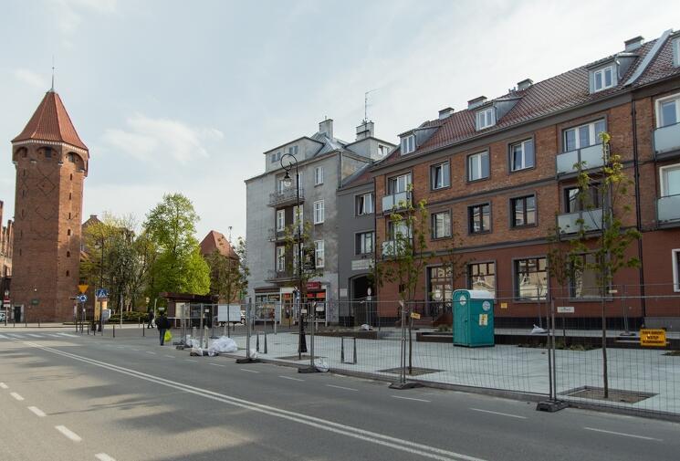 Teren przy ulicy Podmłyńskiej jest już prawie gotowy - prace znajdują się w końcowym etapie realizacji