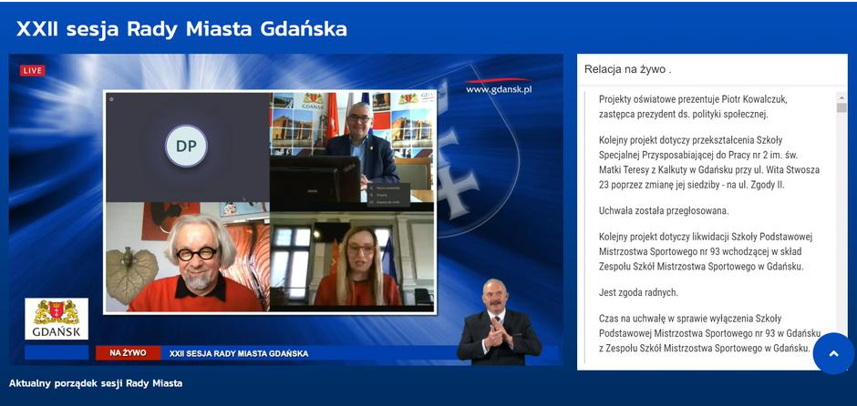 Dyskusja wtrakcie sesji. Na zdjęciu Piotr Kowalczuk zastępca prezydent, Agnieszka Owczarczak przewodnicząca RMG i radny WdG Andrzej Stelmasiewicz