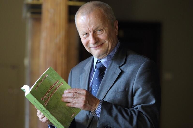 Jacek Starościak podczas promocji swojej książki Wspomnienia gdańszczanina