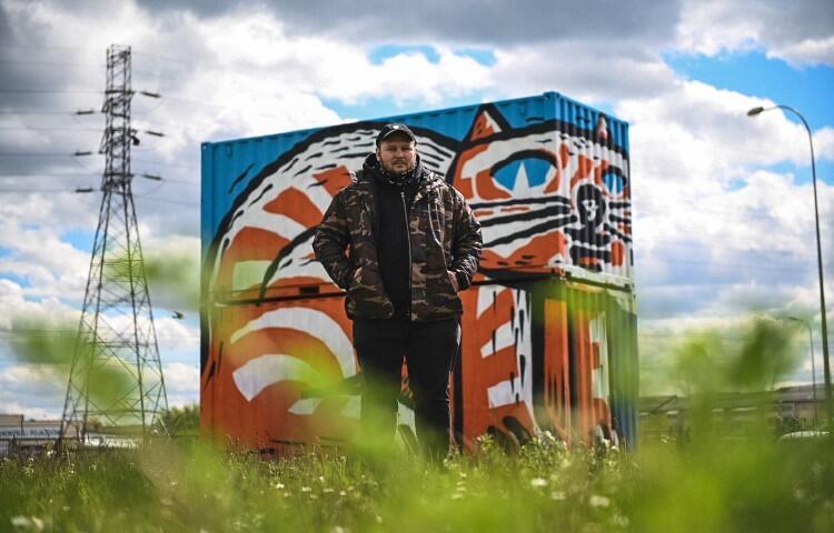 """Mariusz Waras to trójmiejski artysta, od blisko dwudziestu lat jeden z najważniejszych twórców światowego street artu, znany jako """"M-city"""""""