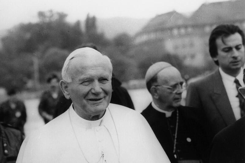 Jan Paweł II podczas wizyty w Gdańsku, 12 czerwca 1987 roku