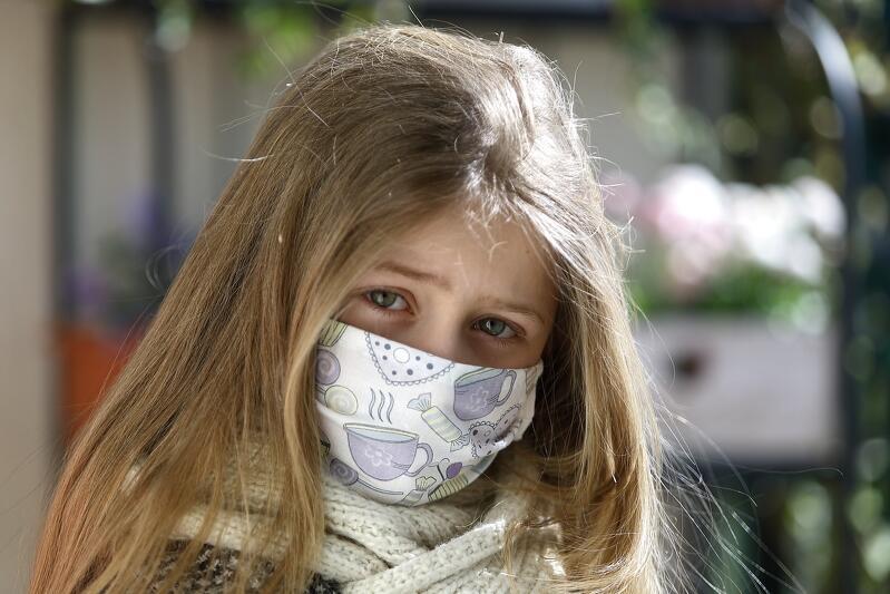 Mała gdańszczanka podczas epidemii koronawirusa