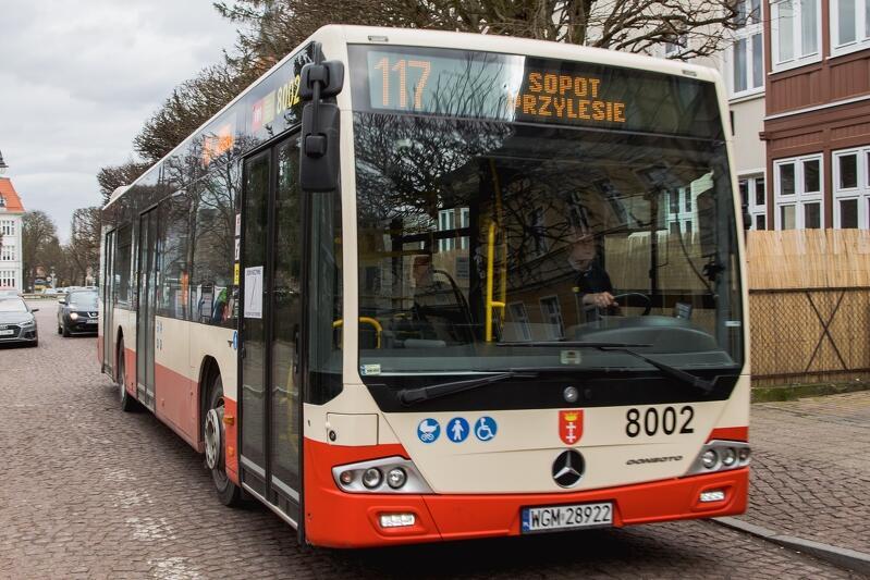 Autobus linii 117 - w ten weekend lepiej uważać, dokąd nas zawiezie nie Przymorzu
