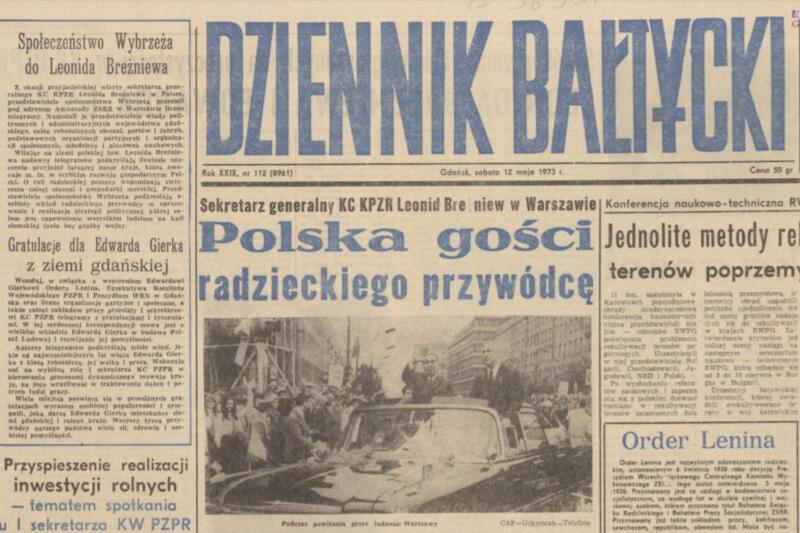 A tu gratulacje dla Edwarda Gierka z ziemi gdańskiej...