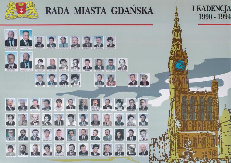 Radni Gdańska w latach 1990-1994. KLIKNIJ W ZDJĘCIE, ABY POWIĘKSZYĆ