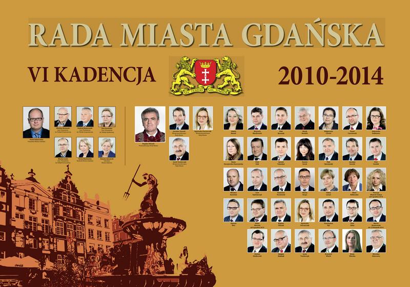 Radni Gdańska w latach 2010-2014. KLIKNIJ W ZDJĘCIE, ABY POWIĘKSZYĆ