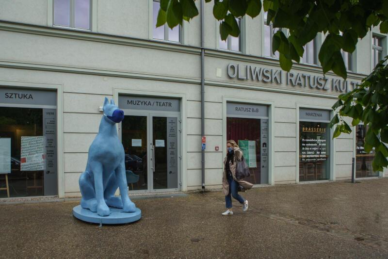 Po długim okresie kulturalnej kwarantanny Galeria Sztuki Nowy Warzywniak w Oliwskim Ratuszu Kultury ponownie otwiera się dla odwiedzających. Ale wciąż obowiązują nakazy przestrzegania zaleceń sanitarnych - przypomina o nich As, nosząc maseczkę