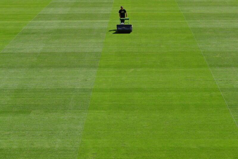 Murawa hybrydowa, czyli połączenie trawy naturalnej ze sztuczną stwarza znakomite warunki do gry