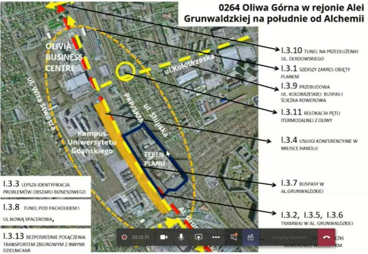 Screen projektu planu miejscowego zagospodarowania dla rejonu al. Grunwaldzkiej i Alchemii