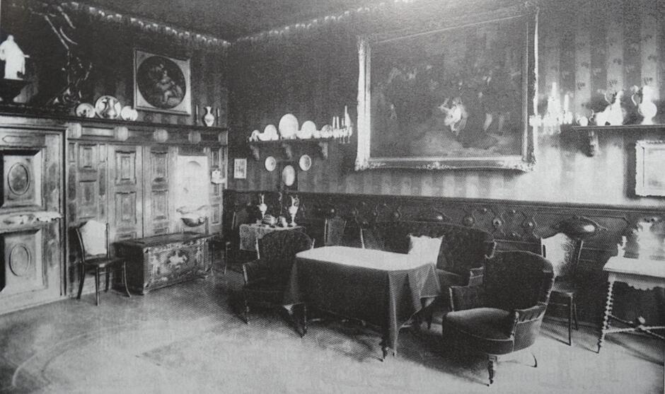 Fragment wystawy w domu Giełdzińskiego