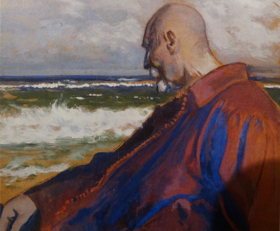 Wykonany temperą 'Autoportret' z 1925 roku