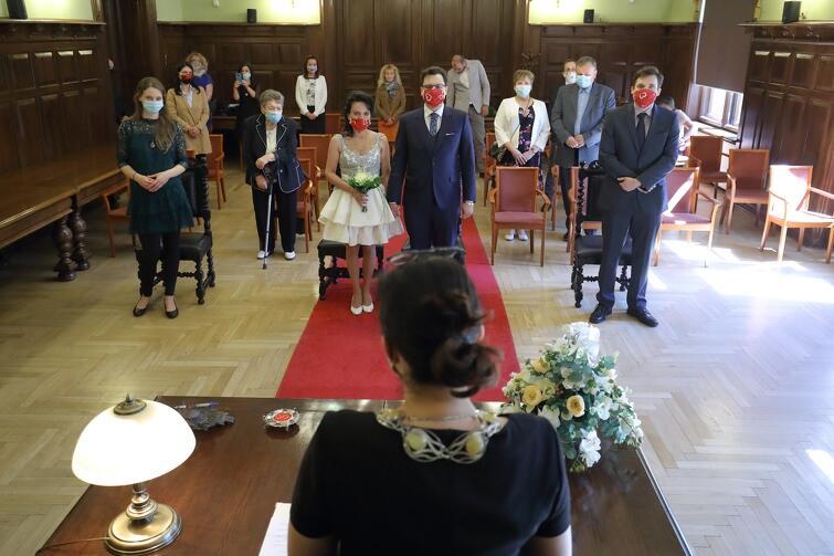 Uroczystość zaślubin odbyła się w gmachu Nowego Ratusza w Gdańsku