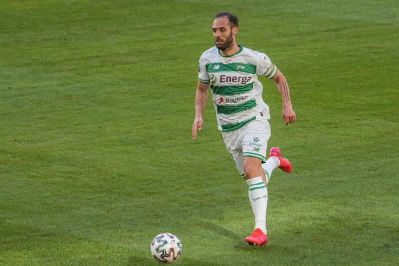 Flavio Paixao, zdobywca trzech goli dla Lechii - Portugalczyk stał się w Gdańsku specjalistą od zdobywania goli w meczach z Arką