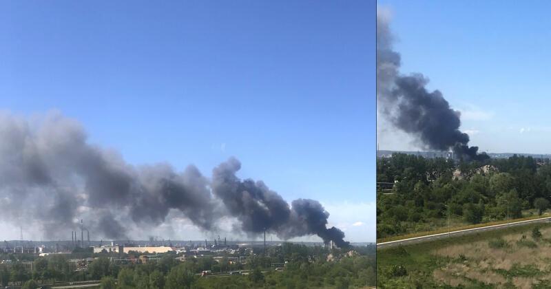 Pożar składowiska przy ul. Kujawskiej