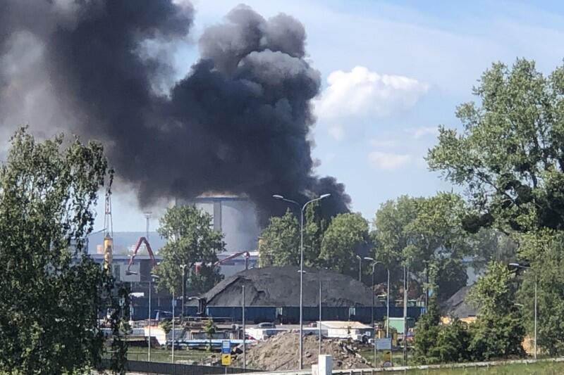 Widok z okolic zjazdu z Trasy Sucharskiego na Twierdzę Wisłoujście i Westerplatte