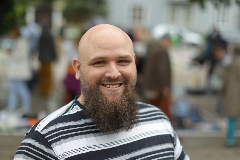 Inicjatorem i organizatorem pchlego targu jest Michał Bojanowski - prezes zarządu Stowarzyszenia Młoda Oliw
