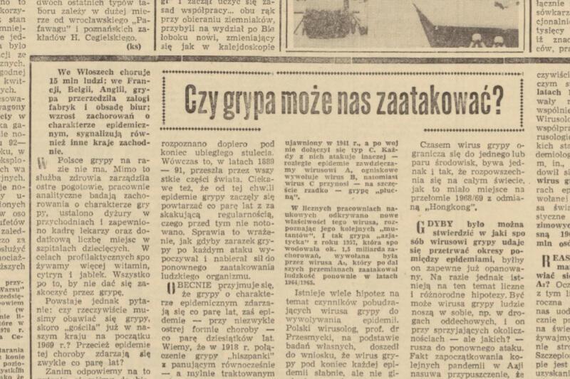 Koronawirus nie jest odmianą grypy - jest znacznie groźniejszy - ale zjawisko epidemii jest nam już w Polsce dobrze znane