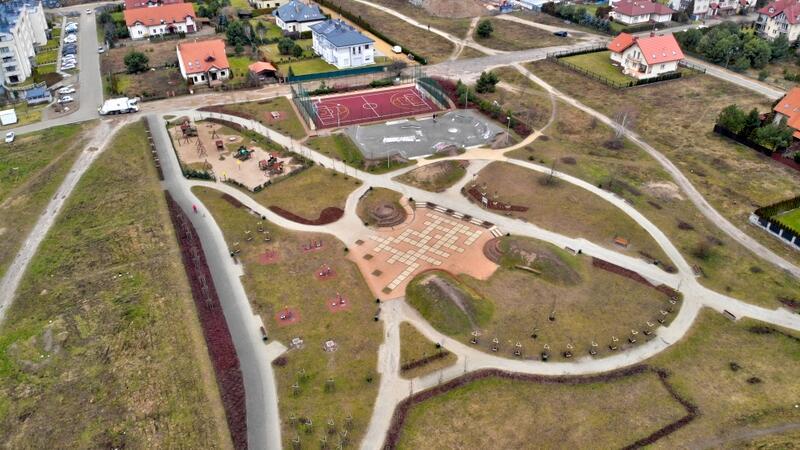Park Diany jest systematycznie uatrakcyjniany. Znajduje się tam już m.in. boisko i skate park
