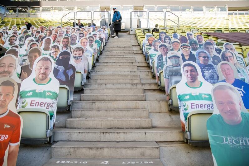 Na meczach z Arką Gdynia i Cracovią na trybunach Stadionu Energa Gdańsk siedzieli wirtualni kibice Lechii. W środę, 24 czerwca, będą już mogli zasiąść osobiście - dokładnie 9 272 osoby