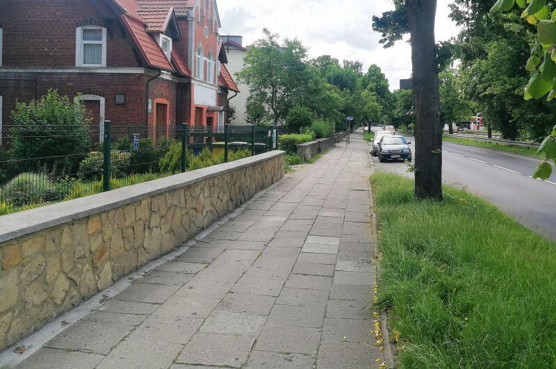Miejsce, w którym powstanie wkrótce nowa droga rowerowa