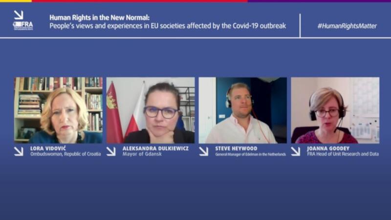W środę, 24 czerwca, odbył się wirtualny panel ekspercki, podczas którego mówiono sondażu dotyczący praw człowieka, przeprowadzony wśród 35 tys. Europejczyków