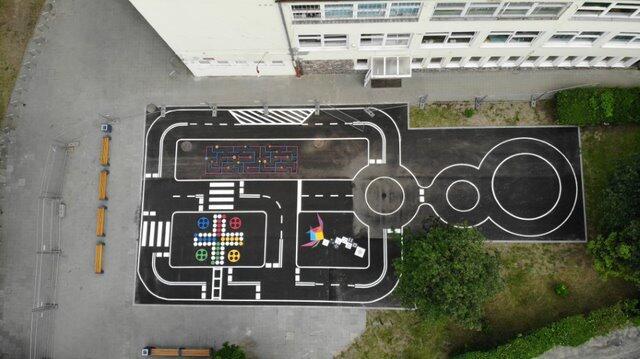 Tak prezentuje się miasteczko ruchu drogowego na Oruni