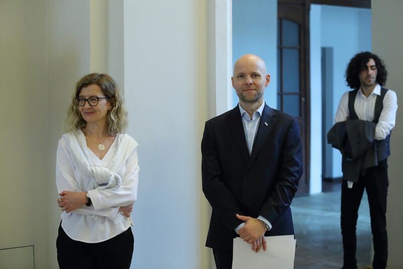 Dziekan Wydziału Architektury Politechniki Gdańskiej prof. Lucyna Nyka i Alan Aleksandrowicz z-ca prezydent Gdańska