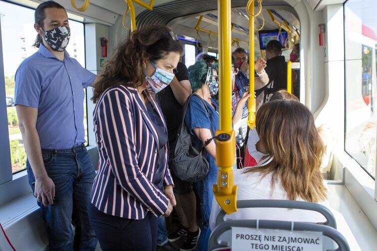 Trasę nowego tramwaju sprawdziła 30 czerwca m.in. prezydent Aleksandra Dulkiewicz
