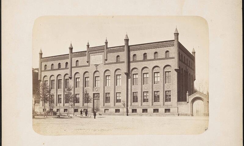 Gimnazjum Miejskie przy ul. Lastadia 2, fotografia powstała przed 1903 r.