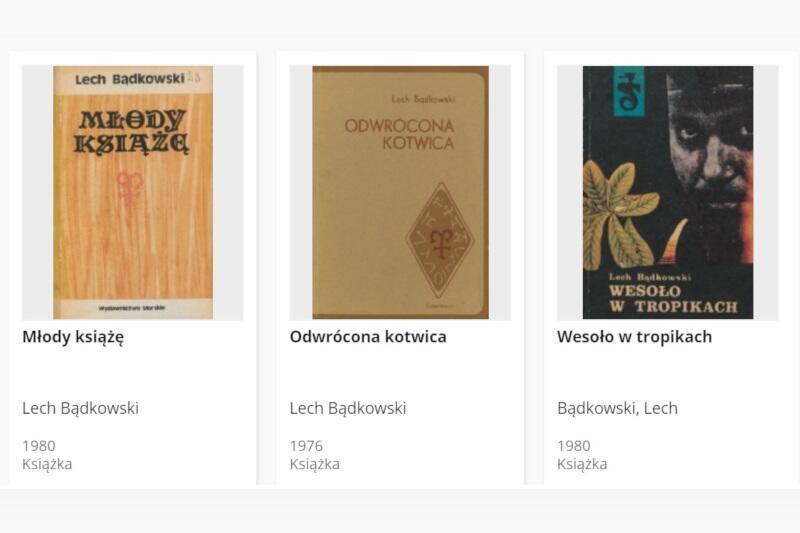 Wirtualna kolekcja dzieł pisarza i działacza społecznego Lecha Bądkowskiego została wzbogacona o jego powieści z lat 1970-1980