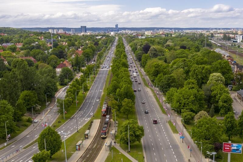 Jedna z najważniejszych dróg w Gdańsku - Aleja Zwycięstwa