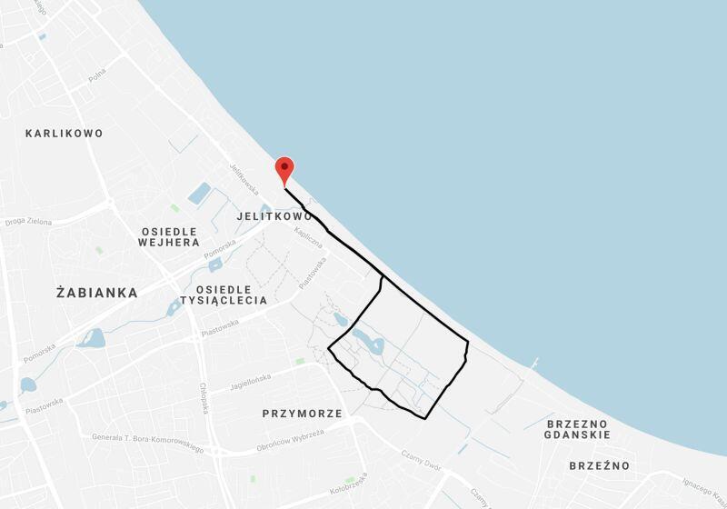 Trasa 5 km zaproponowana przez organizatora