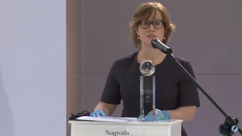 Jest dla mnie dużym honorem otrzymać nagrodę imienia Macieja Płażyńskiego - mówiła po polsku ze sceny jedna z laureatek Vanessa Gera, Amerykanka, która w Polsce przebywa już 16 lat