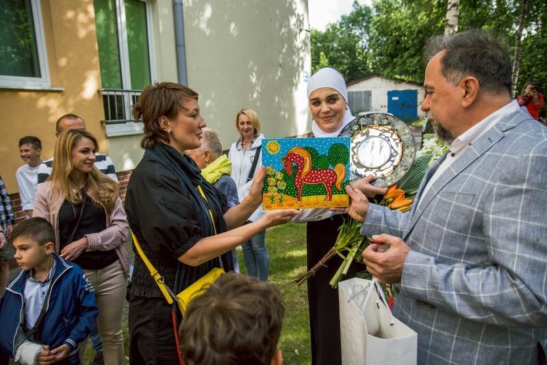 W otwarciu dla przyjaciół i znajomych, 11 lipca, udział wziął m.in. Łew Zacharczyszyn Konsul Ukrainy w Gdańsku