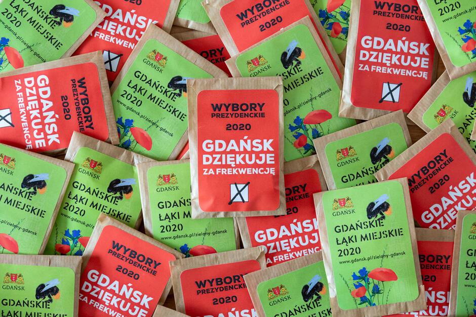 5000 torebeczek z nasionami łąki miejskiej dla gdańszczanek i gdańszczan