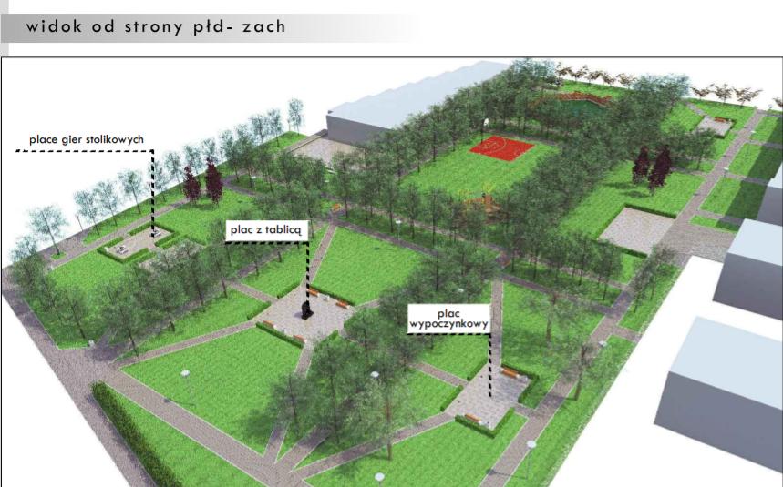 Tak będzie wyglądać park przy ul. Związkowej po zakończeniu prac