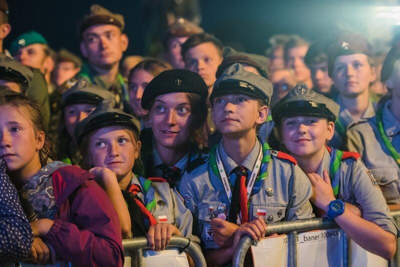 Zamknięcie jubileuszowego Zlotu ZHP na Wyspie Sobieszewskiej. ZHP i Miasto Gdańsk współpracowały przy organizacji tego wydarzenia, wspólnie też przygotowują European Jamboree 2020+1