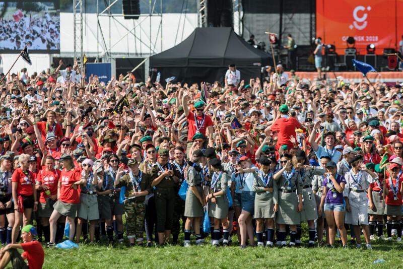 Ceremonia otwarcia Zlotu ZHP - w wydarzeniu udział wzięło 15 tys. harcerze i harcerzy