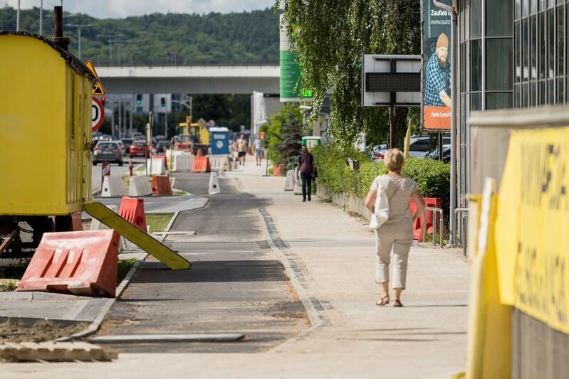 Budowa nowej drogi rowerowej wzdłuż al. Grunwaldzkiej powinna zakończyć się w najbliższych dniach