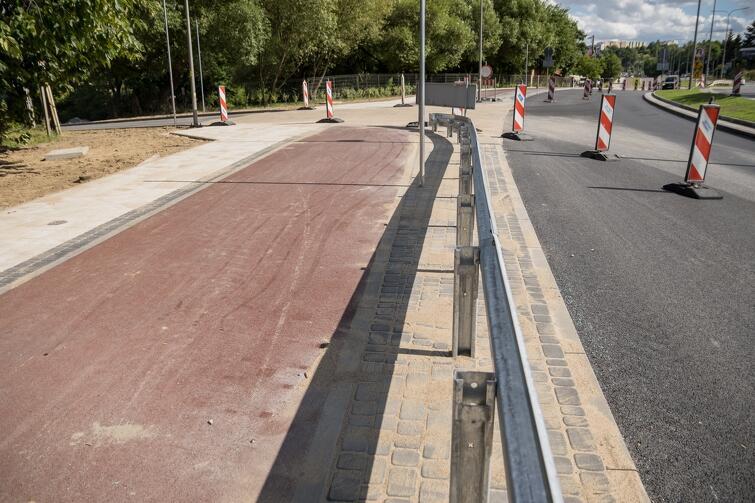 Niemal gotowa jest już zmodernizowana droga rowerowa wzdłuż ul. Potokowej