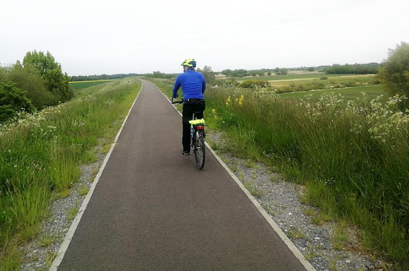 Istniejący fragment Wiślanej Trasy Rowerowej w gminie Cedry Wielkie. Gdański odcinek połączy się z nim w okolicy Błotnika