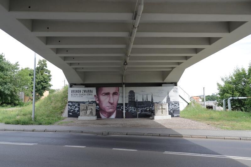 Mural można oglądać pod wiaduktem, który znajduje się na ul. Polanki