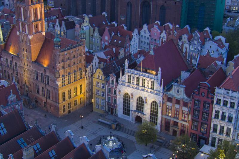 Wydaje się, że ptaki nieprzypadkowo wybrały na swój dom Dwór Artusa - to jeden z najpiękniejszych oddziałów Muzeum Gdańska