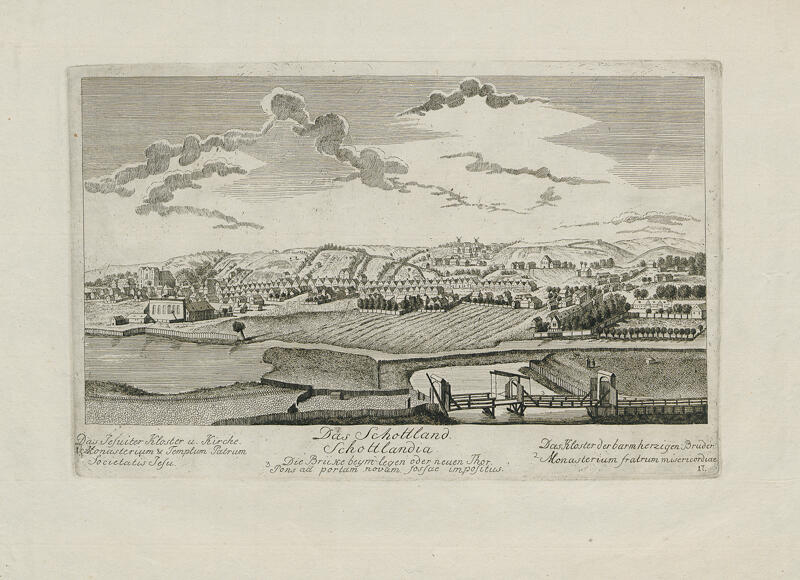 Stare Szkoty, autor rysunku: Matthaeus Deisch,1761-1765