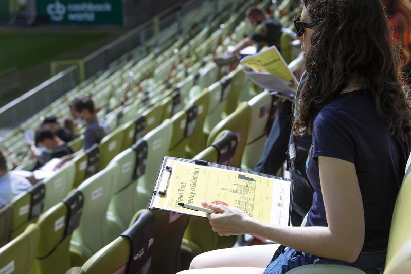 Wielki Test Wiedzy o Gdańsku zorganizowano na trybunach Stadionu Energa Gdańsk