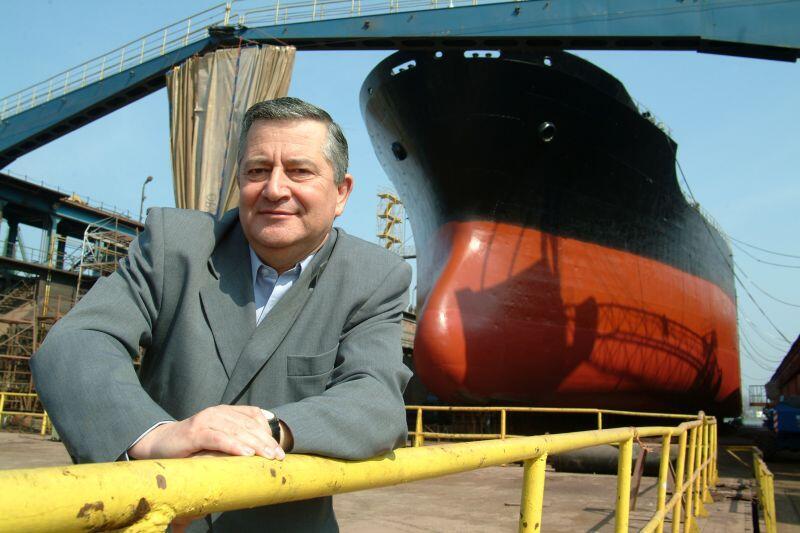 Piotr Soyka jako prezes Gdańskiej Stoczni Remontowej - 2003 r.