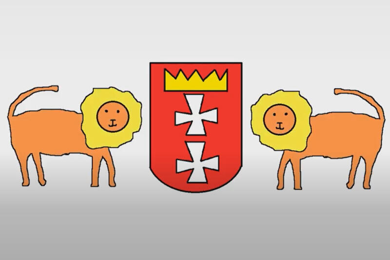 Gdańskie lwy są jednymi z bohaterów cyklu bajek o naszym mieście z udziałem kota Gutka i Jana Heweliusza. Opowieści stworzyli podopieczni i wolontariusze Fundacji Czeka Na Nas Świat
