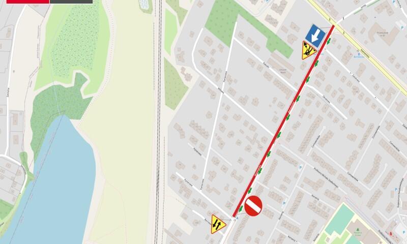 Na ulicy Barniwickiej, od wtorku, 18 sierpnia, w kierunku północnym obowiązuje objazd przez ulice Niedziałkowskiego i Balcerskiego. Ruch w kierunku południowym bez zmian